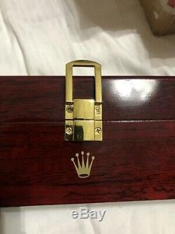 Rolex Wooden Collectors Display Case Watch Box Brand New Limited Edition