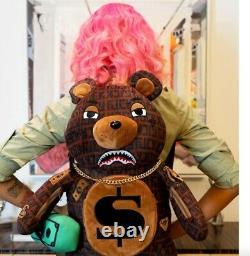 SPRAYGROUND OFFENDED MONEY BEAR TEDDY BEAR BACKPACK Brand New Ready To Ship