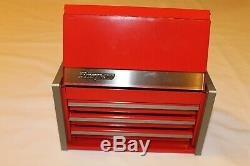 Snap On Red Mini Micro Top Chest Tool Box Rare Limited Edition Brand New