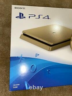 Sony PlayStation 4 Slim Limited Edition 1TB Gold Console PS4 Brand New