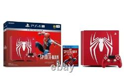 Sony PlayStation PS4 Pro 1TB Limited Edition Spider Man Console bundle brand new