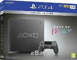 Sony Playstation PS4 1TB Days of Play Limited Edition Console, Black-Brand New