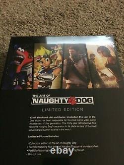 The Art of Naughty Dog Limited Edition Hardcover (Brand New, Sealed)