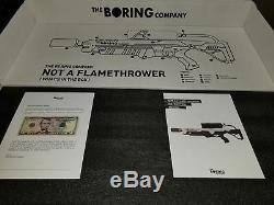 The Boring Company Not A Flamethrower BRAND NEW, Limited Edition Serial # 17435