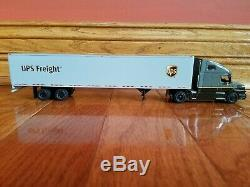 UPS Freight Volvo Sleeper Die Cast Truck 1/64 scale-Dry Van 53'-Brand New