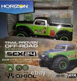1/24 Scx24 B-17 Betty Limited Edition 4xd Rtr, Green Axi00004 Flambant Neuf