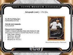 2021 Topps Museum Collection Baseball Hobby Box Brand New Scelled Livraison Gratuite