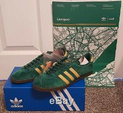 Adidas Liverpool Formateurs Limited Edition Green Taille Uk 9 Neuf