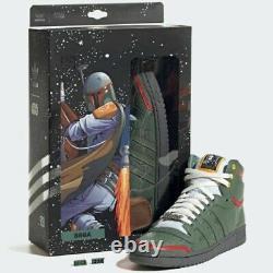 Adidas Top Ten Hi Star Wars Chaussures Boba Fett Limited Taille 8.5 Flambant Neuf
