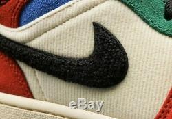 Air Jordan 1 MID Se Sans Peur Multi Color Bleu La Grande Taille 10.5 Neuf