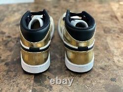 Air Jordan 1 Taille Or Métallisé Moyen 8,5 Flambant Neuf