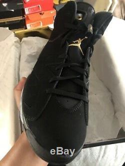 Air Jordan 6 Retro Dmp Hommes Taille 11 Or Noir / Metallic Marque Nouveau Nike