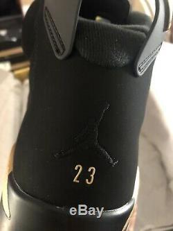 Air Jordan 6 Retro Dmp Hommes Taille 12 Or Noir / Metallic Marque Nouveau Nike