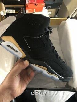 Air Jordan 6 Retro Dmp Hommes Taille 9 Or Noir / Metallic Marque Nouveau Nike