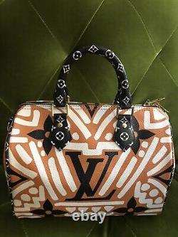 Auth Brand New 2020 Louis Vuitton Limited Edition Speedy Crafty 25 Crossbody Bag