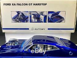 Autoart 118 Ford Falcon Gt Xa Hardtop Blown Coupe Candy Apple Bleu Neuf