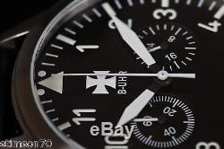 B-uhr Luftwaffe Chronographe Flieger, Édition Limitée, Neuf + Carte De Garantie