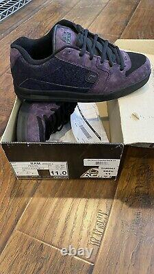Bam Adio Shoes Heartagram V. 3 Motif Noir/violet 2006- Taille 11-marque Nouvelle- H. I.m