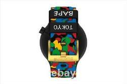 Bape X Swatch Big Bold 2020 Collaboration Watch Limited Black Brand New Japan