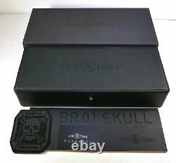 Bell & Ross Cyber Skull Br01-csk-ce/srb 45mm Box Papers Flambant Neuf