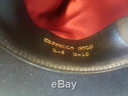 Borsalino Fedora Marque New Black Hat Jhonny Profond Gold Label 56 Limited Edition