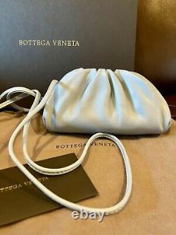 Bottega Veneta Flambant Neuve La Mini Pochette 20 Coin Purse Wallet Clutch Blue