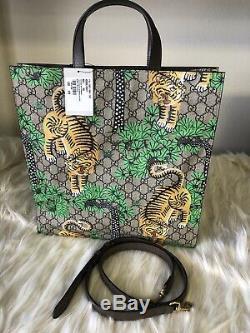 Brand New Limited Edition Authentique Gucci Tigre Du Bengale Sac Fourre-tout En Cuir