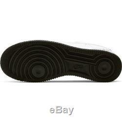 Brand New Nike Air Force 1 Hommes Cuir Athletic Slip-on Chaussures De Sport Blanc Et Noir