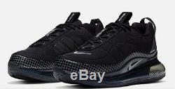 Brand New Nike Air Max 720 Hommes 818 Chaussures De Sport Athletic Training Noir Et Argent
