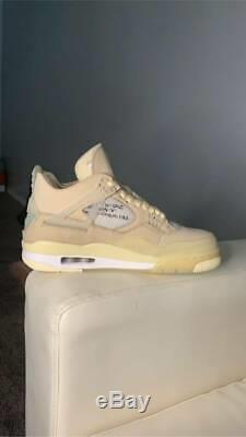 Brand New Off White X 'voile' Air Jordan Taille 10 Hommes Air Jordan Retro 4