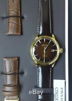Brand New Seiko Presage Cocktail Temps Srpd36 Brown Limited Edition Montre Homme