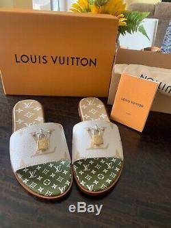 Brand New Women Louis Vuitton Lock It Slides / Le Mulets