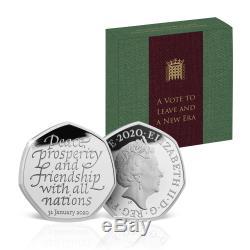 Brexit De Monnaie Officielle Monnaie Royale Édition Limitée Neuf Solide Preuve Argent