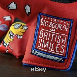 British Smiles Swag Putter Cover, Édition Limitée, Nouveau. Envoyer Dès Que Possible