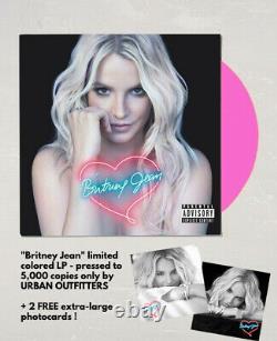 Britney Spears Britney Jean Vinyle Lp Limitée Rose Brand New +2 Photocards Gratuits
