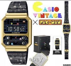 Casio Vintage A100wepc-1b A100wepc Pac-man Nouvelle Marque Rare