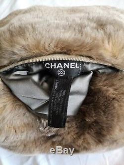 Chanel Sac De Fourrure De Lapin Muff Avec Chaîne Brand New 100% Édition Limitée Authentique