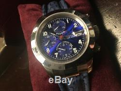 Chronographe Édition Limitée Rolex Tudor Woods Woods, Tout Neuf, Face Bleue / Bracelet