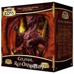 Colossal Red Dragon Brand New Dans La Boîte Scellée D & D Icônes Limited Edition