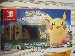 Console D'interrupteur Nintendo Go Pikachu Limited Edition Brand New Jamais Ouvert