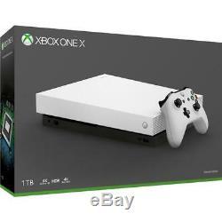 Console Toute Neuve Blanche De 1 To Microsoft Xbox One X Edition Limitée Spéciale