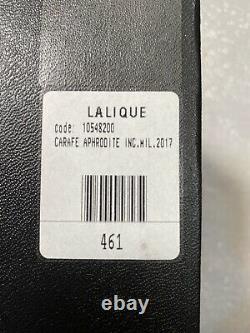 Cristal Lalique Aphrodite Vintage Decanter Brand New # 10548200 Livraison Gratuite 461