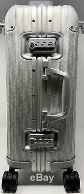 Dior Rimowa Cabin Valise Argent Oblique Brand New Limited Edition Sur Carry Bag