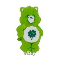 Erstwilder X Care Bears Bonne Chance Ours Brooch Limited Edition Marque Nouveau Dans La Boîte