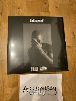 Frank Ocean Blond Vinyle Lp 2016 Black Friday Marque Nouvelle Et Scellée