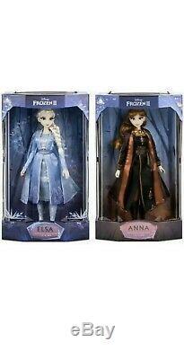 Frozen 2 Édition Limitée Poupées Disney Brand New Et Paire Sealed Set Elsa Anna