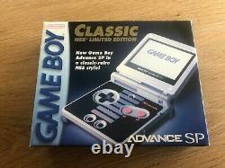 Gameboy Advance Sp Nes Classic Edition Limitée Brand New Non Utilisé Nintendo Rare