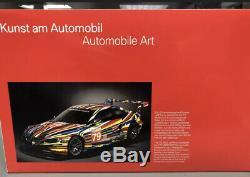 Jeff Koons Bmw Art Car 118 Échelle E92 M3 Gt2 Le Mans Racer Tout Neuf Jamais Ouvert