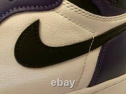 Jordan 1 Retro High Og Court Purple (555088-500) Toute Nouvelle Taille 9.5 Avec Og Box