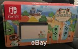 Limited Edition Animal Crossing Nintendo Console Switch (tout Neuf Dans La Boite)